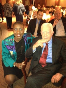 "Before a ""Conversation With The Carter's"" event, at The Carter Center in 2013, I was able to take this photo with President Jimmy Carter."